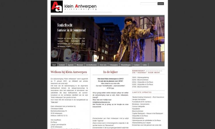 www.kleinantwerpen.be